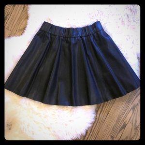 Club Monaco faux leather skirt